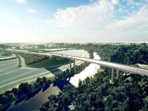 An artist's impression of how the proposed North West Relief Road could look