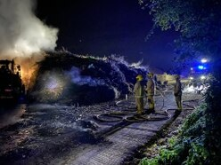 1,500-ton compost fire burns through the night in Telford