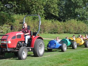 Park Hall countryside attraction is hoping for better weather for its tractor barrel train rides