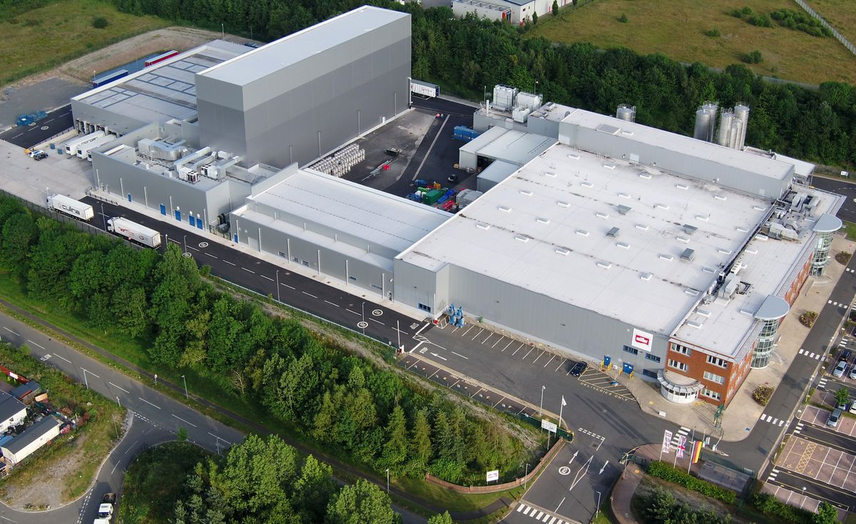 Aerial shot of Telford site following £50 million expansion