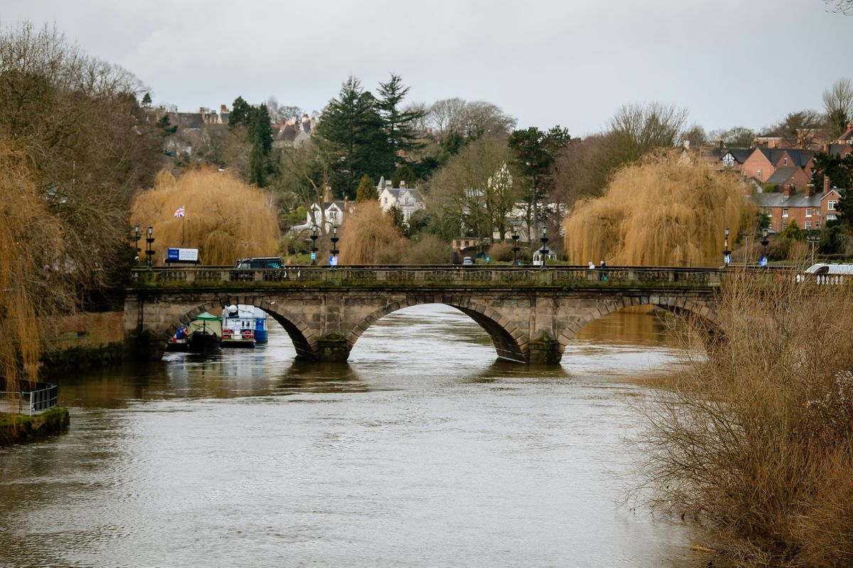 The river in Shrewsbury
