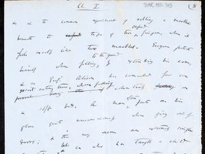A fragment of Darwin's work, containing his Theory of Evolution
