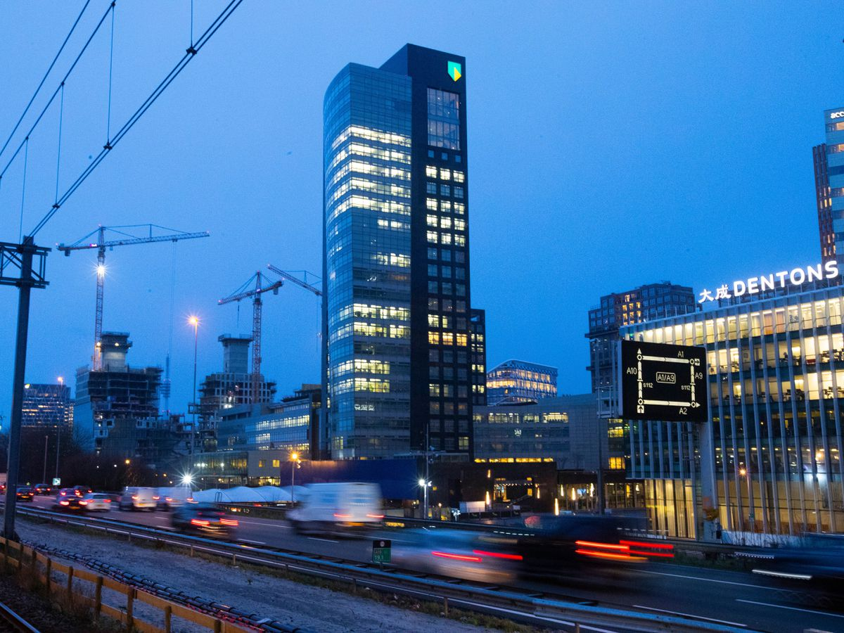 The ABN Amro head office in the business district in Amsterdam, Netherland