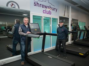 Dave Courteen, left, The Shrewsbury Club's managing director, and club manager Alvin Ward in the newly-refurbished gym.