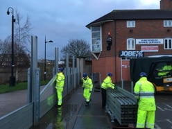 Shrewsbury flood barriers come down - with video and pictures