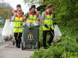 McDonald's crew members across the UK cover a total of 3,000 MILES each week on litter patrols