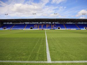 A general view of the Greenhous Meadow home stadium of Shrewsbury Town (AMA)
