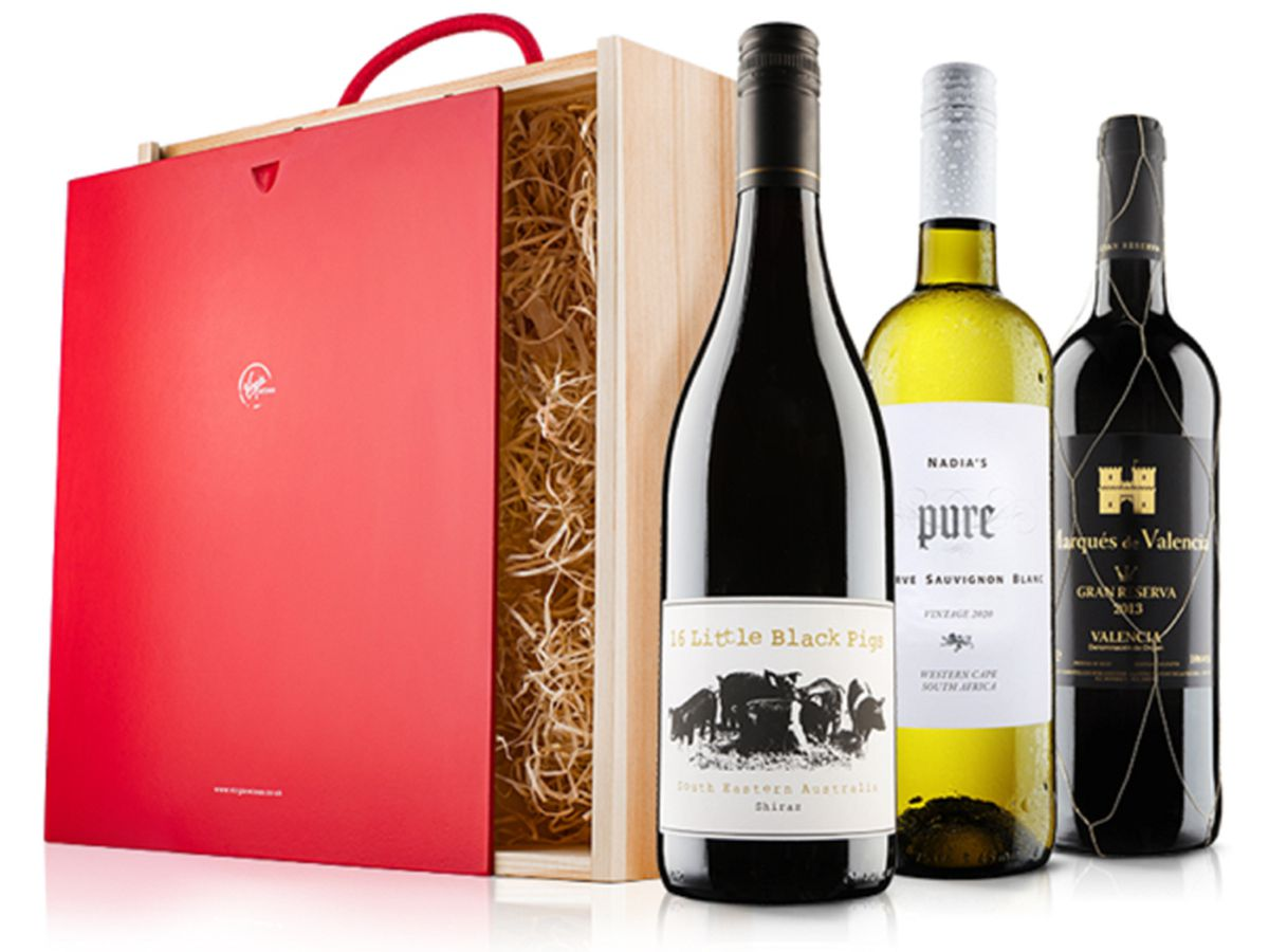 Connoisseurs Mixed Wine Trio In Wooden Gift Box