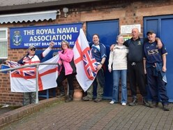 Group makes trek from Market Drayton to Newport for Royal Naval Association Club
