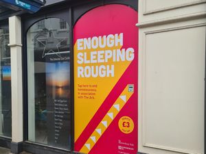 A new shop window initiative is helping raise money for the homeless