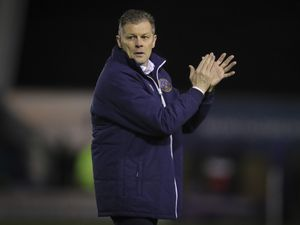 Steve Cotterill the head coach / manager of Shrewsbury Town reacts at full time. (AMA)