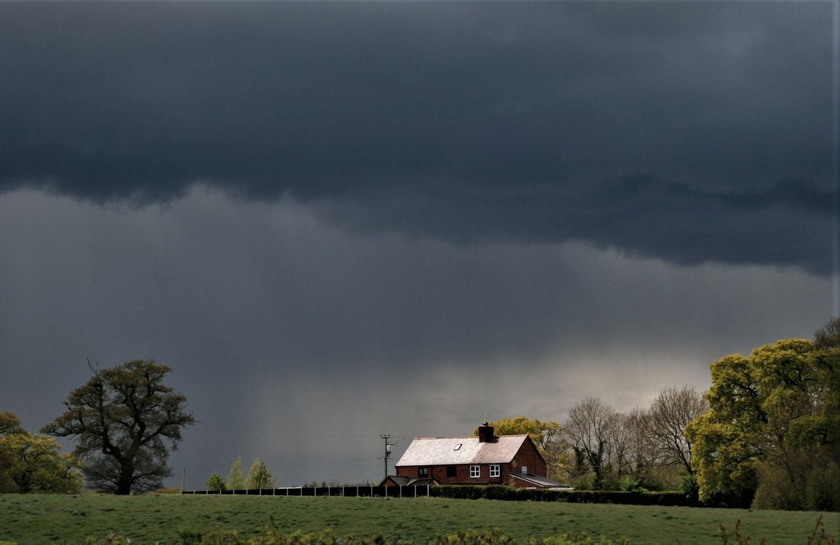 A stormy scene over Ellesmere