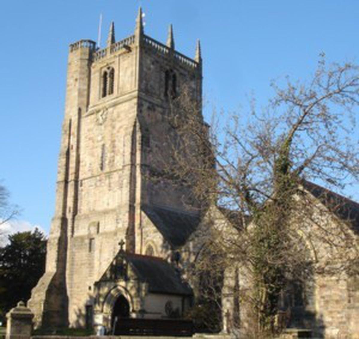 St Oswald's Parish Church in Oswestry