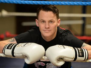 Ready to step into the ring, to take part in a charity boxing match raising money for Cancer Research UK, Johnny Bradley a soldier in 1 Royal Irish