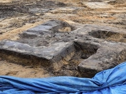 Giant swastika unearthed in Hamburg