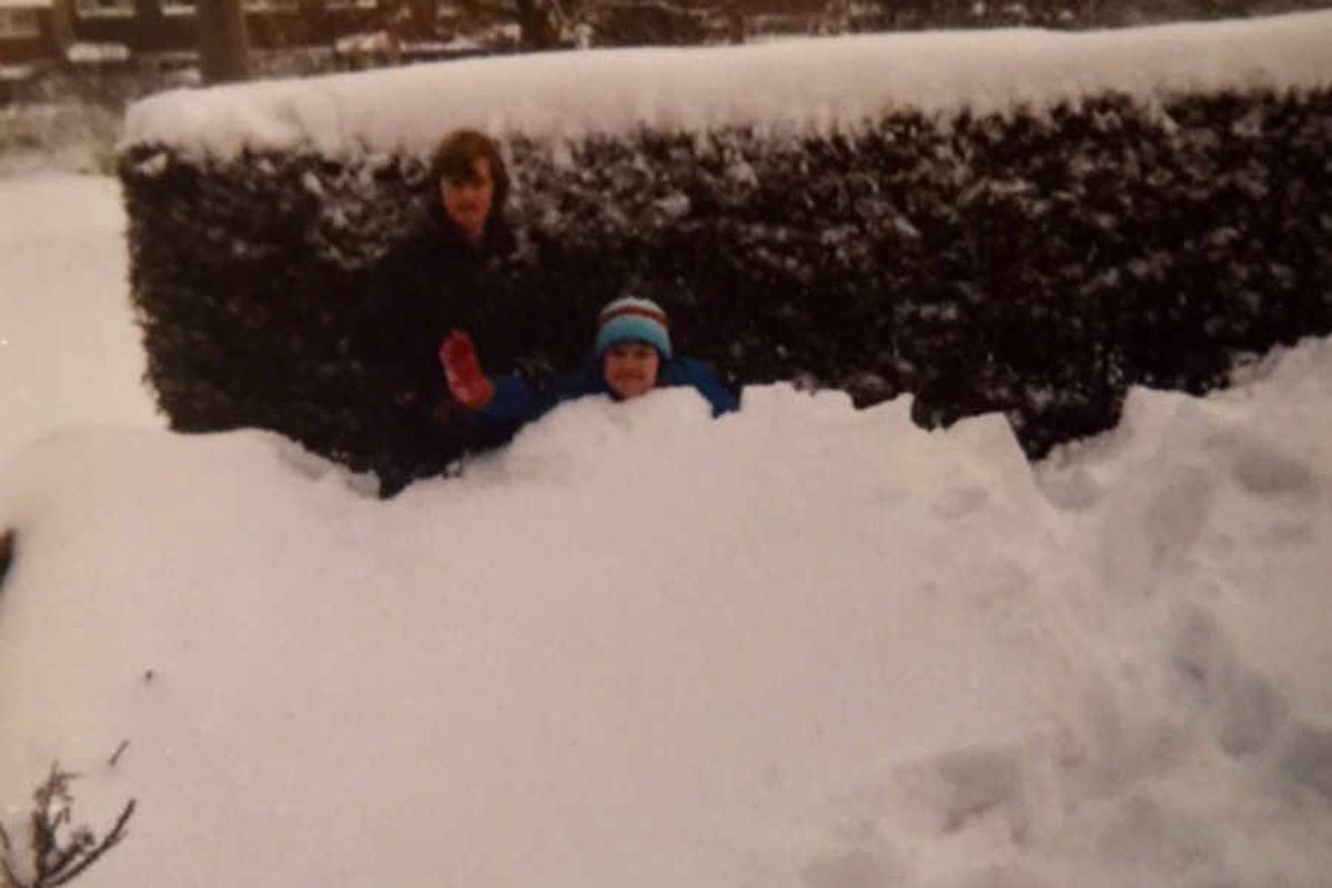 Alison Lewis says: 'That's me and my sister in the picture. I was 14 and she was 10. It was taken in our front garden in Lansdowne Crescent, Bayston Hill. The snow had drifted over the fences and I had to go and collect the milk from Jacksons Stores for elderly neighbours as the float couldn't get around most of the village. My mum told me off for accepting tips for it!'