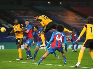 Willian Jose of Wolverhampton Wanderers has a header at goal (AMA)
