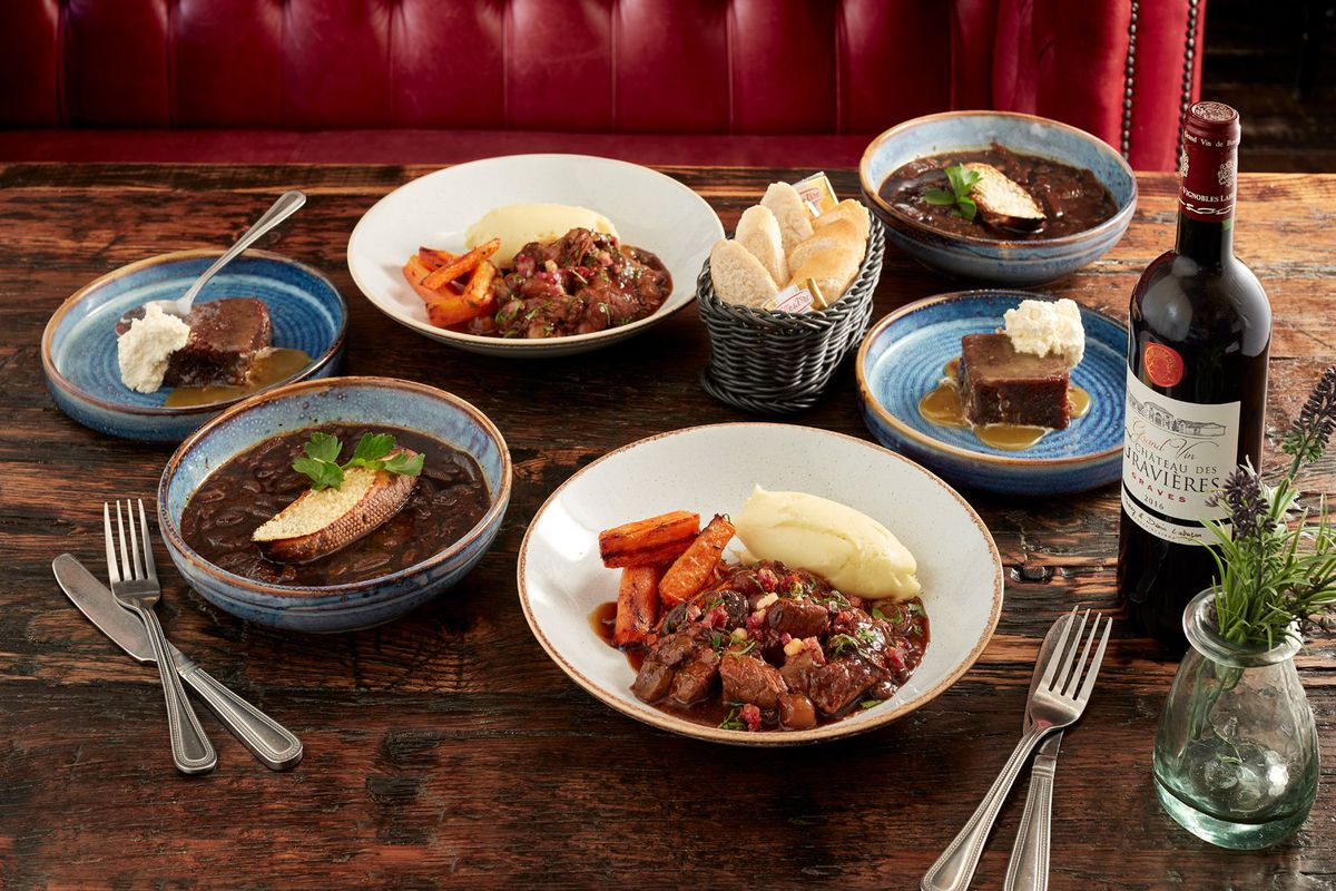Bistrot at Home: Three-Course Classic Bistrot Box with Malbec