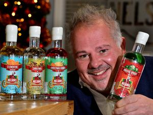 STAFFORD COPYRIGHT EXPRESS AND STAR STEVE LEATH 04/12/2020..Weekend feature story.  Pic at Nelsons Distillery and Gin School in Grindley, Staffordshire.  They have launched some Chritmas gins. Pictured is boss;  Neil Harrison..