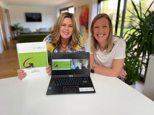 Kelly Page and business partner Katie Evans of Twin Oaks HR