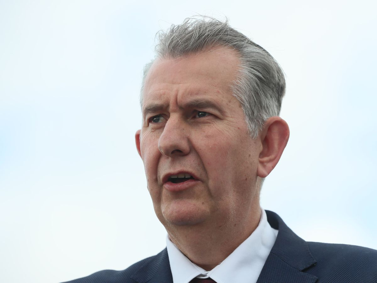 Democratic Unionist Party new elected leader Edwin Poots (Brian Lawless/PA)