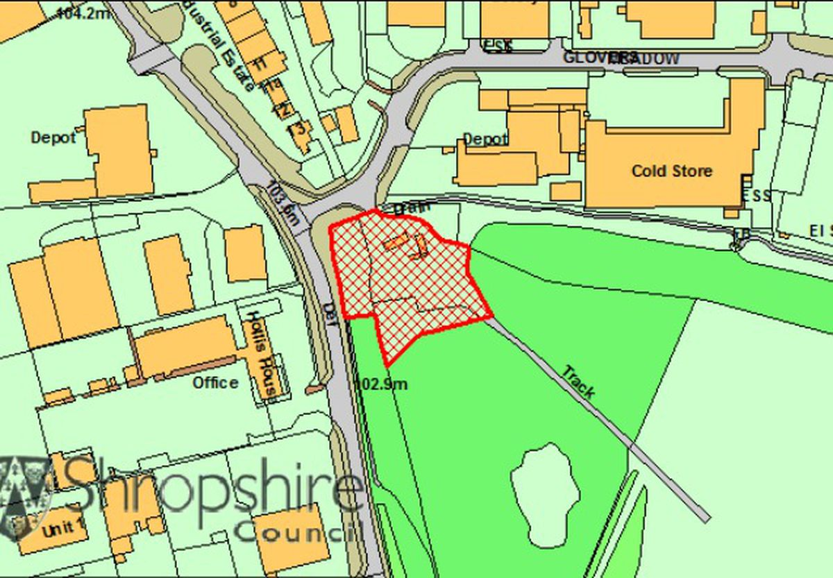 The council's illustration of where the land is