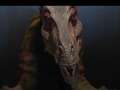 In video: Dinosaur concierge welcomes guests to robot hotel