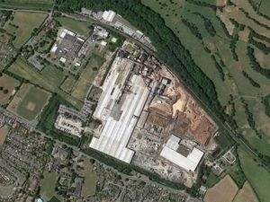 An aerial view showing the Kronospan factory in Chirk. Photo: Google