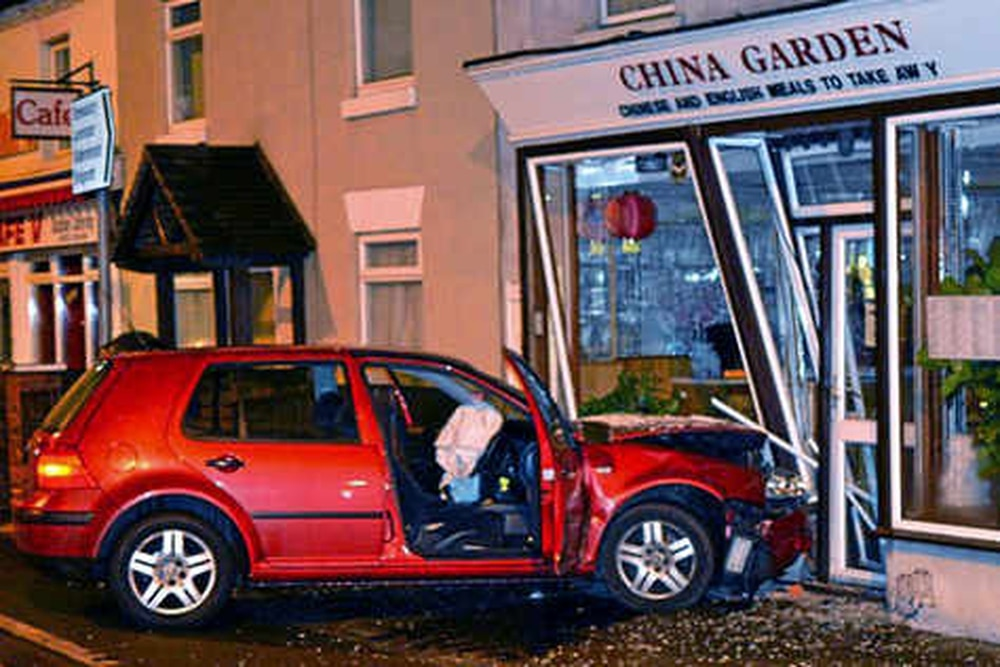 A Man Living Above His Family S Chinese Takeaway In Ludlow Today Described How He Was Woken By Mive Wallop As Car Crashed Into The Front Of It