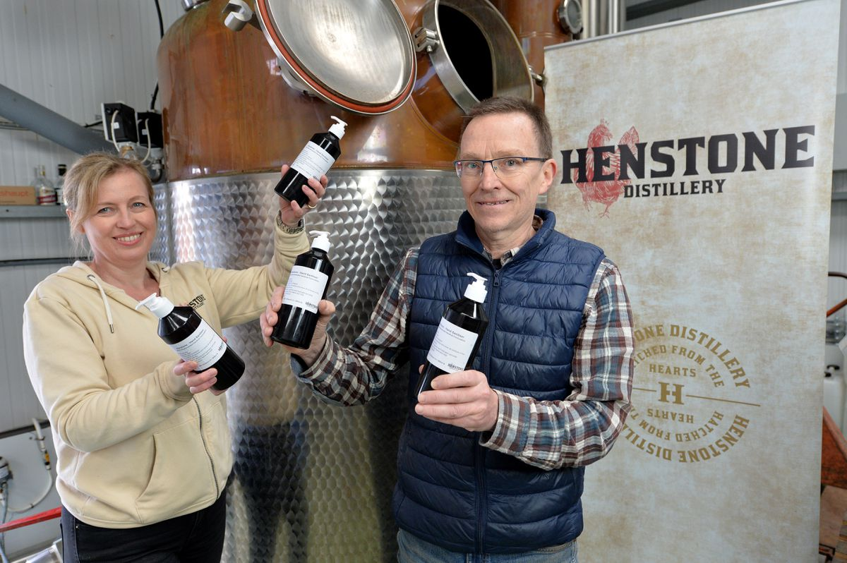 Alison Parr and Chris Tolter from Henstone Distillery