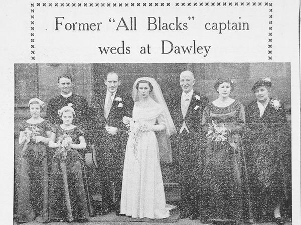 When an All Blacks star married a Dawley bride in Telford