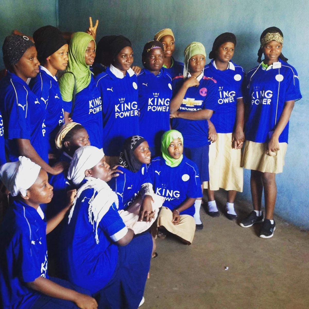 Leicester City kits were also donated