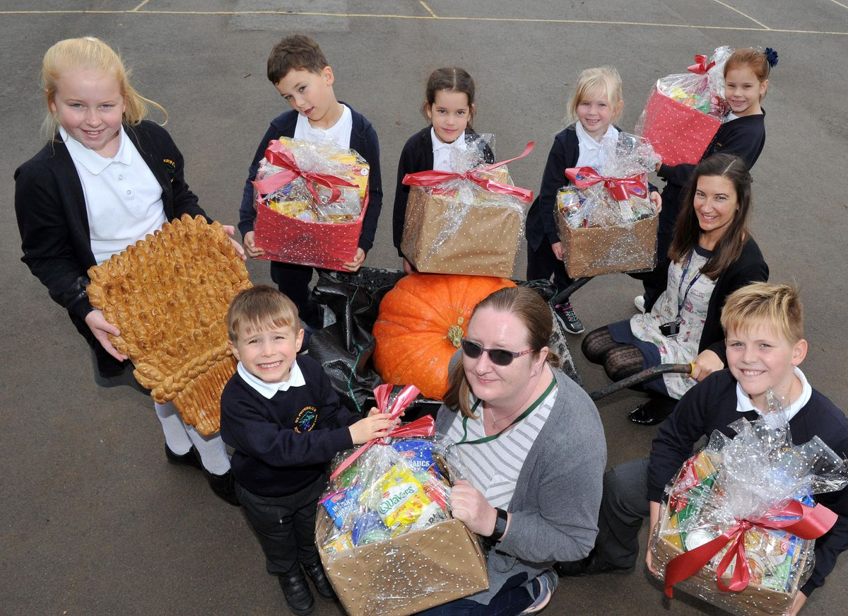 St Peter's C of E Primary School collected food donations for the Telford Crisis Support charity as part of its harvest festival
