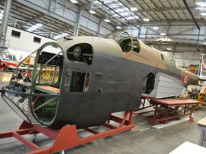 The Second World War bomber's forward fuselage
