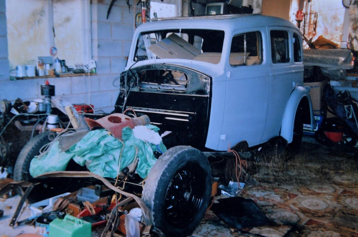 The brothers completely restored the bodyshell of the 1937 Vauxhall