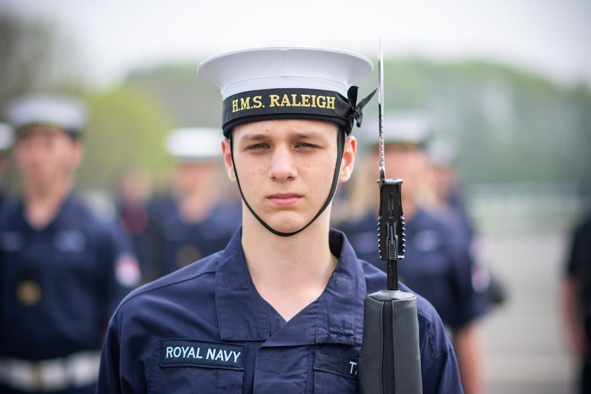 Sam Tait at his Royal Navy passing out parade