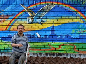 Shrewsbury-based mural artist Rory McCann worked with pupils to come up with the idea at Brown Clee Primary School
