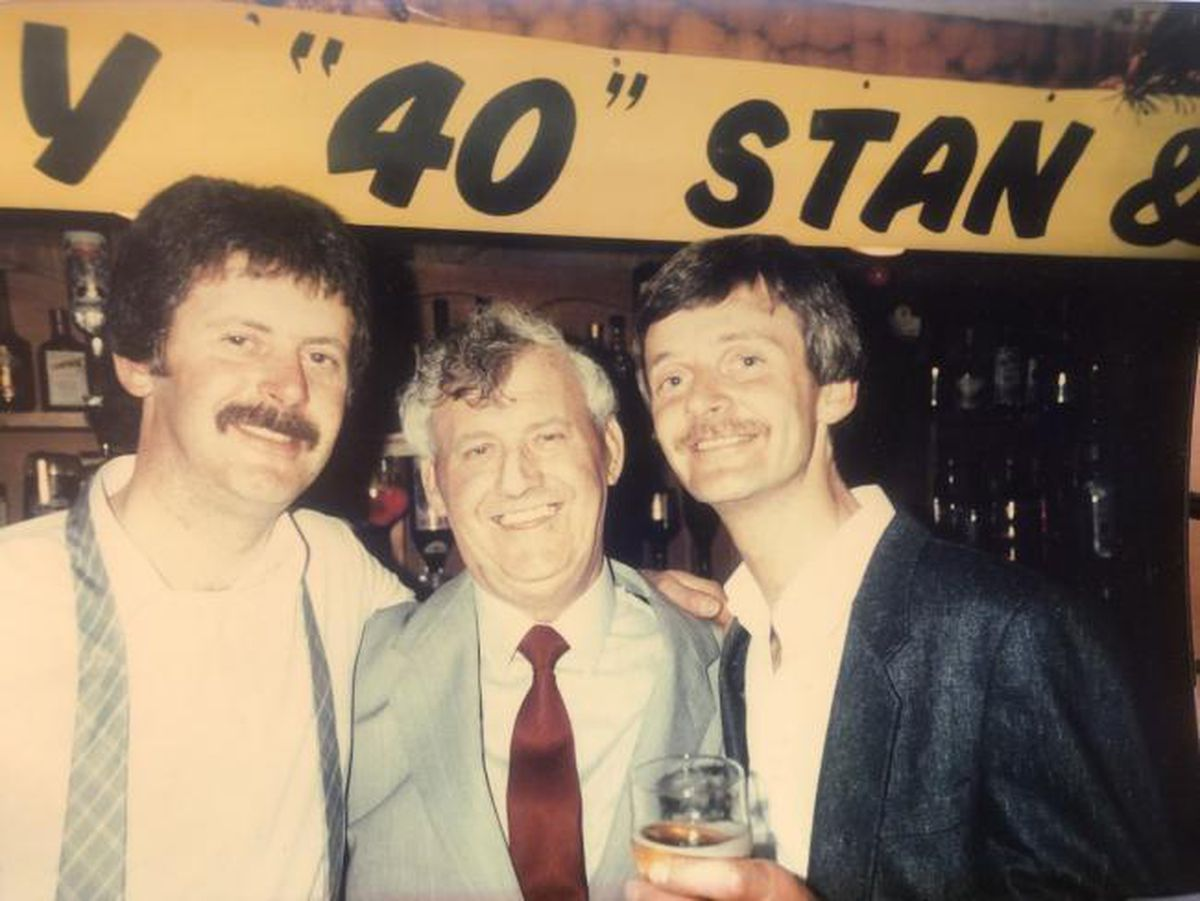 Stan Faulks with his son's Robert and Peter