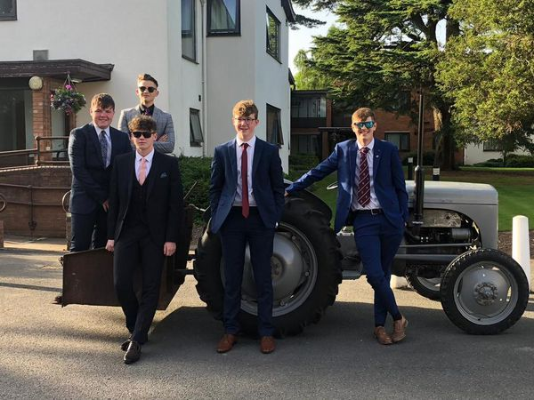 Ready for their prom are Nathan Hester (back), and front from left Matty Lohan, Sam Matthews, Hew Barker and Lewis Gutteridge