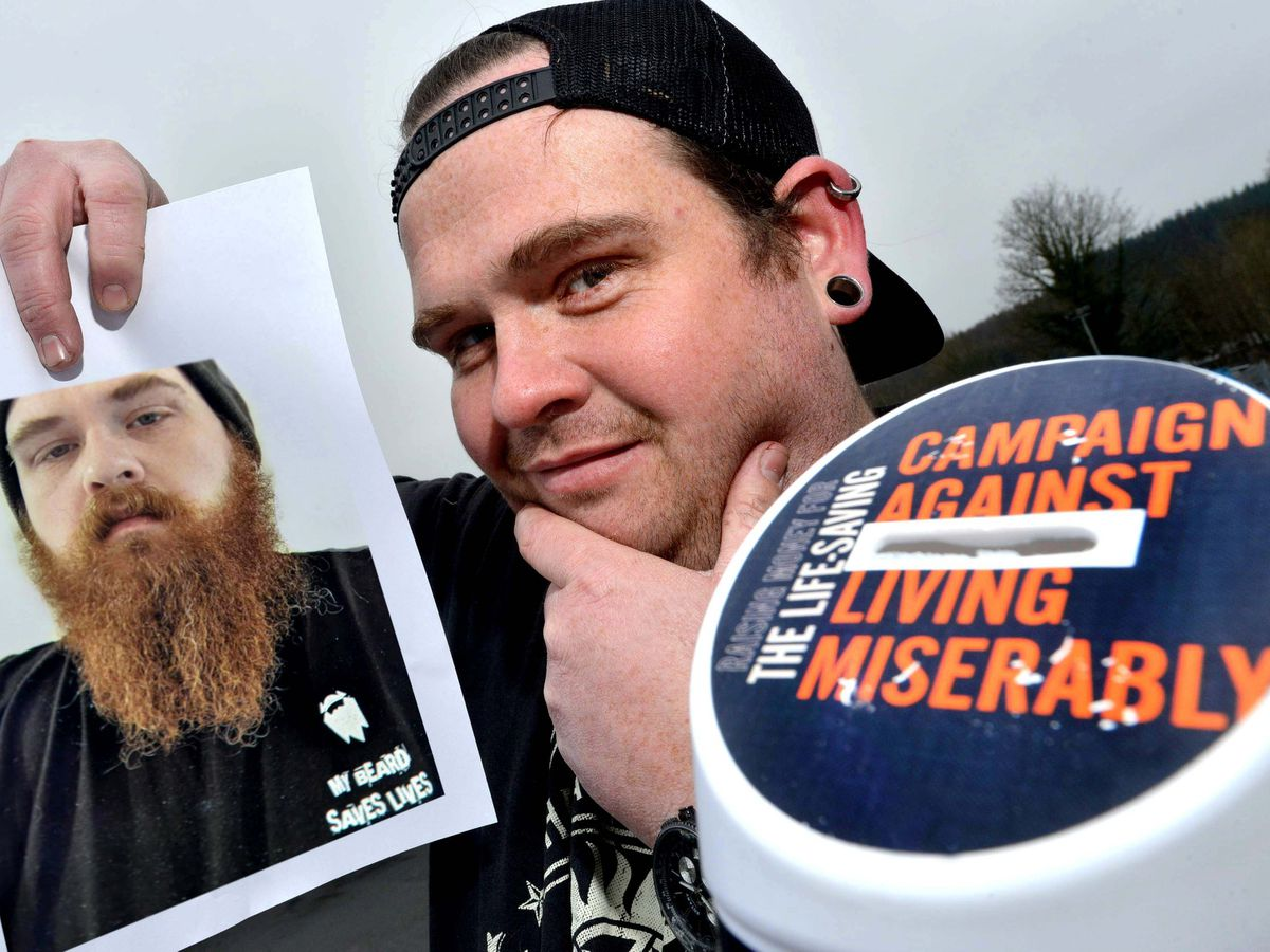 Dan Tyler grew his beard for a year before shaving it for charity