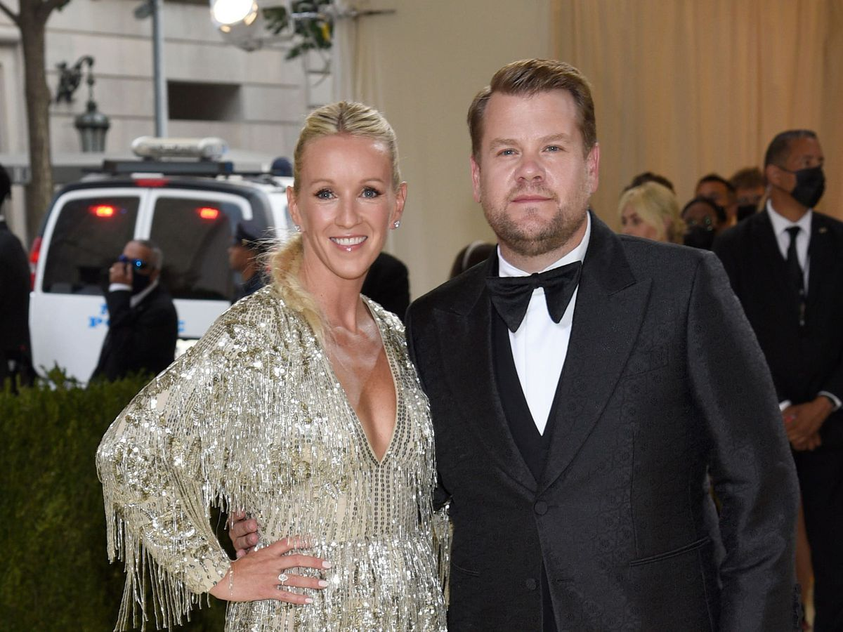 James Corden, pictured with wife Julia Carey, at the Met Gala