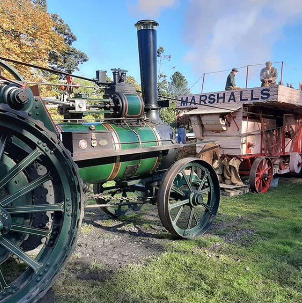 Steam threshing last year at Acton Scott