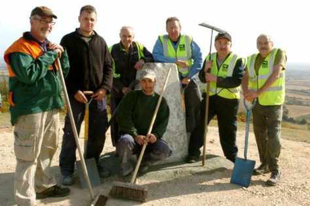 Volunteers help preserve The Wrekin's history