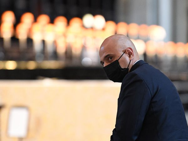 Health Secretary Sajid Javid leaves following the NHS service of commemoration and thanksgiving to mark the 73rd birthday of the NHS at St Paul's Cathedral, London (Stefan Rousseau/PA)